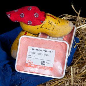 Aardbeien sorbet 1 Liter - ijsboerderijhedel - ijsboerderijschoonheuvel